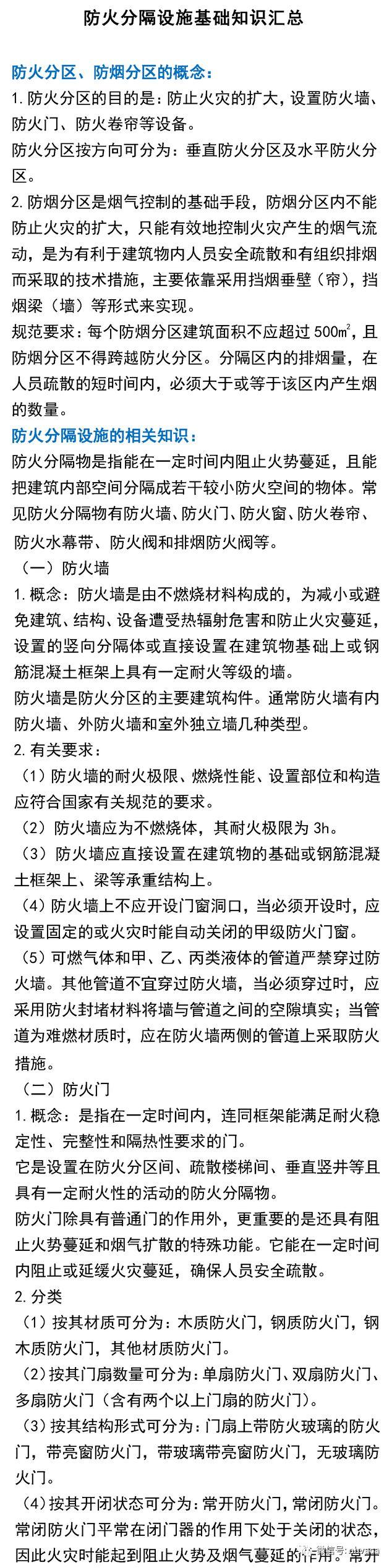 防火分隔设施基础知识汇总_2