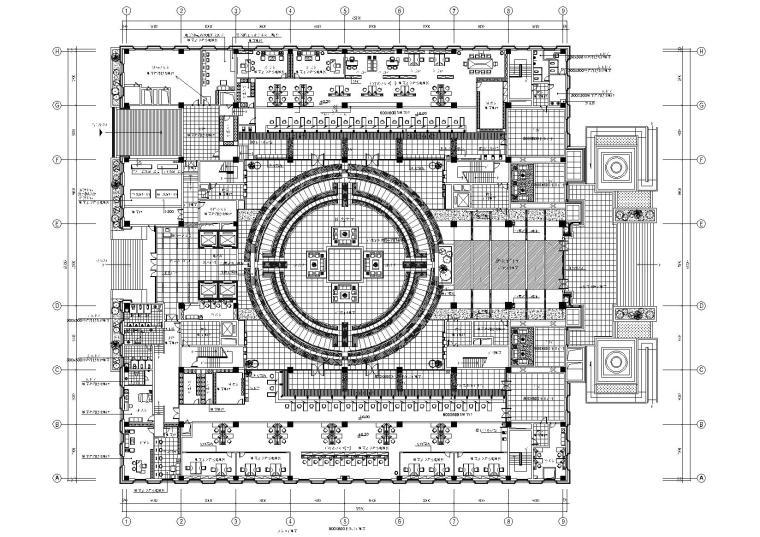 [杭州]中国人民银行某中心支行装饰施工图