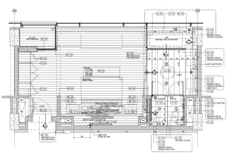 标准客房地面铺装图