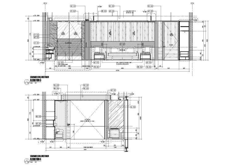 标准客房立面图2