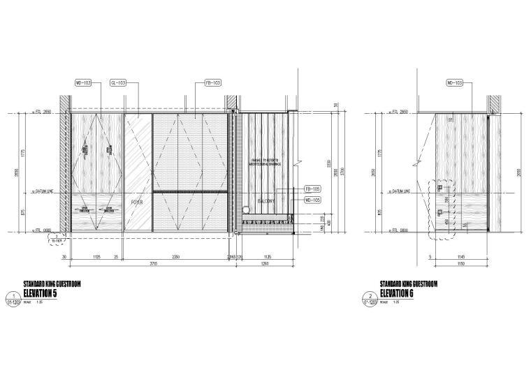 标准客房立面图3