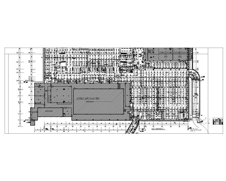 车库负一层喷淋平面图(B区)