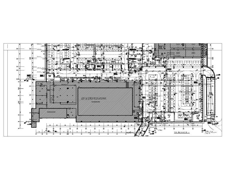 车库负一层给排水平面图(B区)