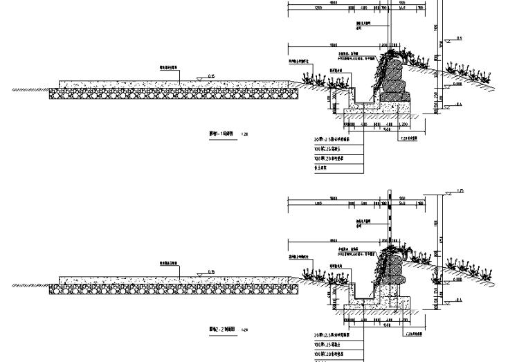 5-围墙剖面图