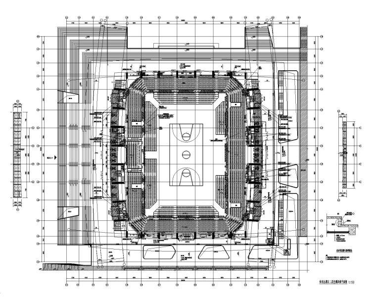 体育比赛区二层空调风管平面图