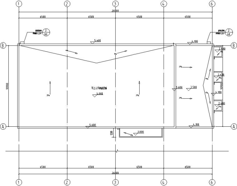 2-建筑屋顶总平面图