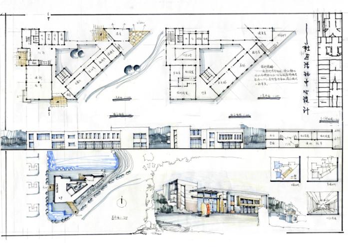 460张高分超清建筑考研快题排版案例
