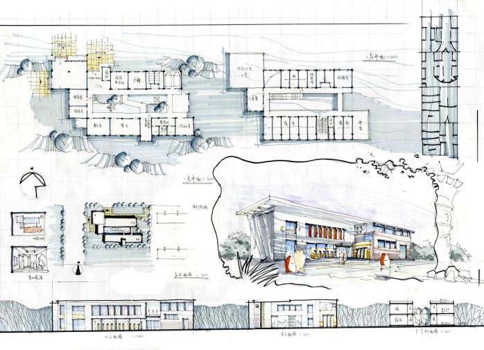 高分超清建筑考研快题排版案例2