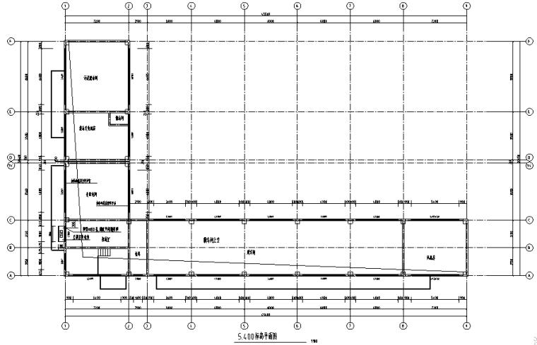 4-3-忠县垃圾处理场建筑膜车间标高平面图