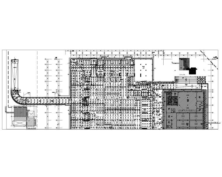 车库负一层喷淋平面图(A区)