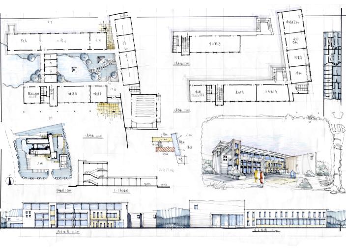 高分超清建筑考研快题排版案例5