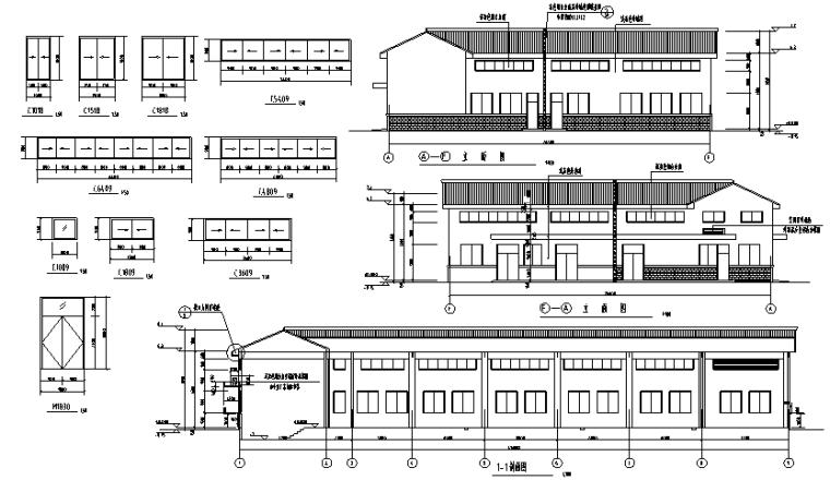 6-3-忠县垃圾处理场建筑立面图