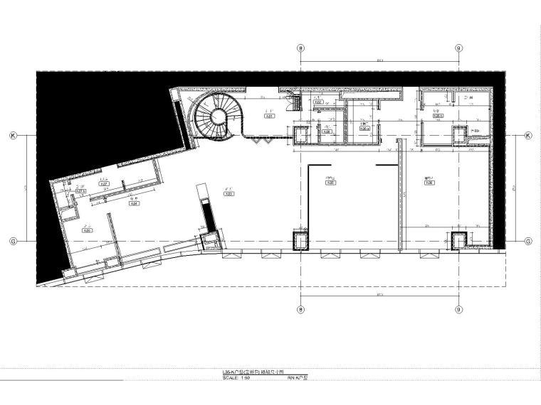 03三十五层K户型隔墙尺寸图