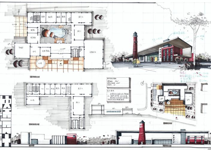高分超清建筑考研快题排版案例7