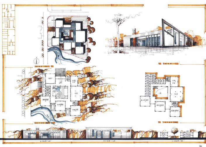 高分超清建筑考研快题排版案例8