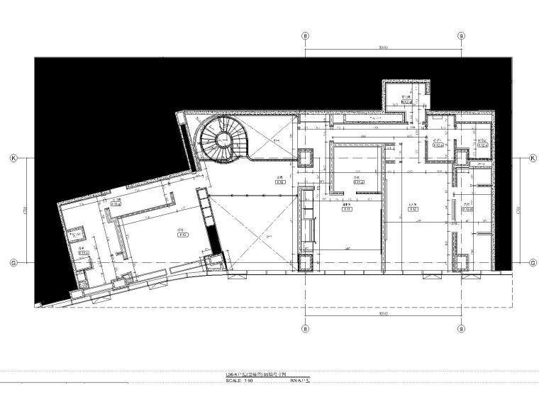 07三十六层K户型隔墙尺寸图