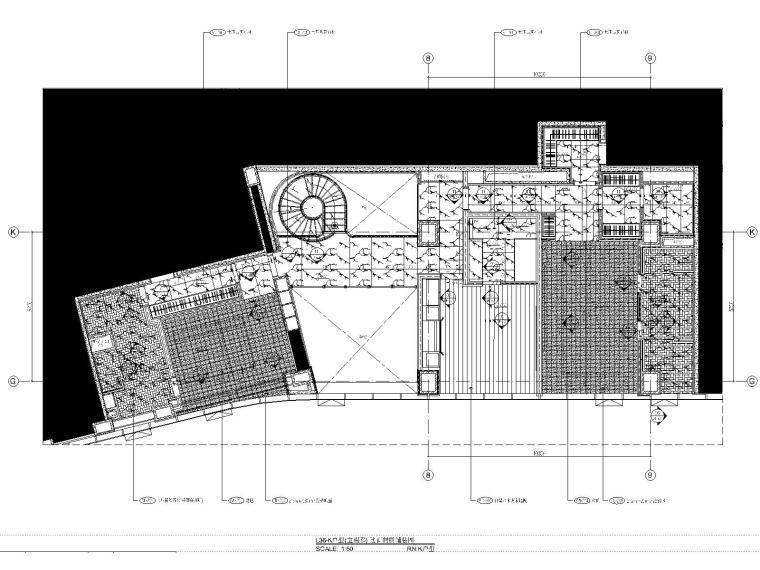 08三十六层K户型地面铺装图