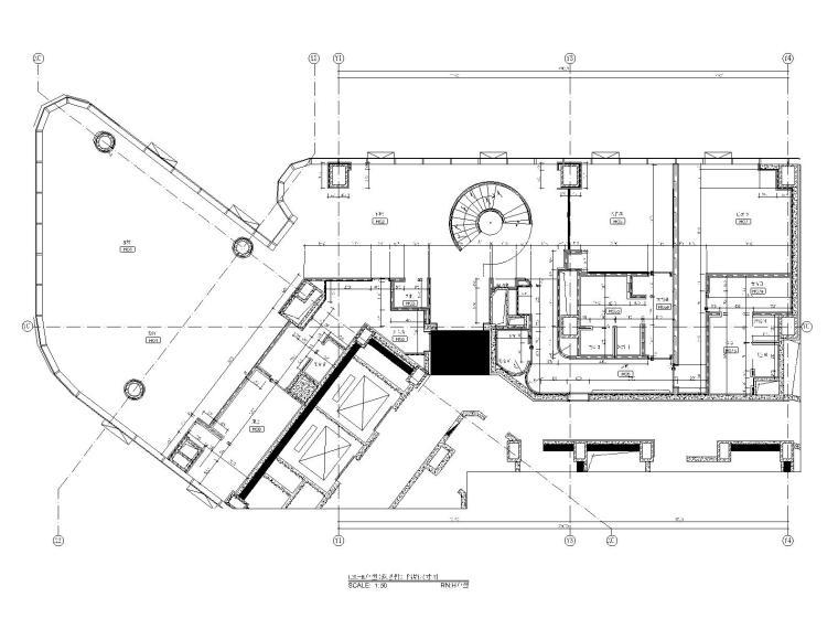 11三十五层H户型隔墙尺寸图