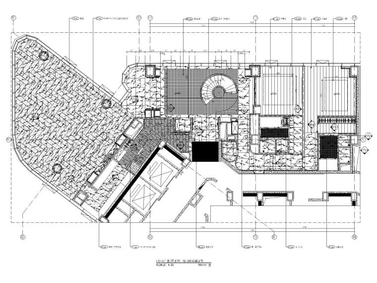 12三十五层H户型地面铺装图
