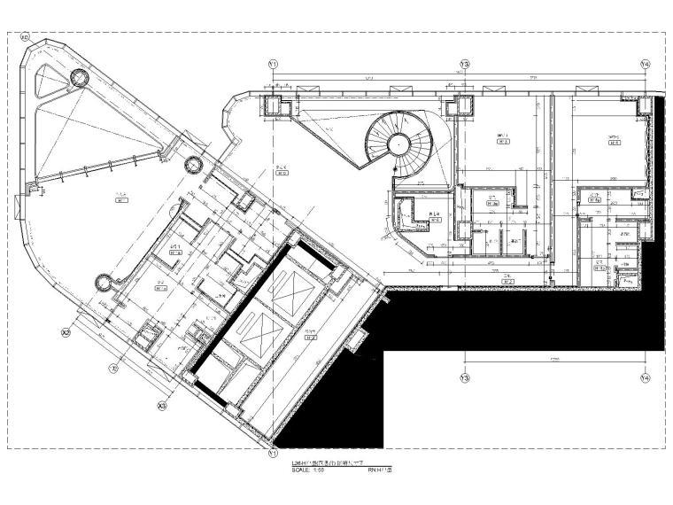 15三十六层H户型隔墙尺寸图