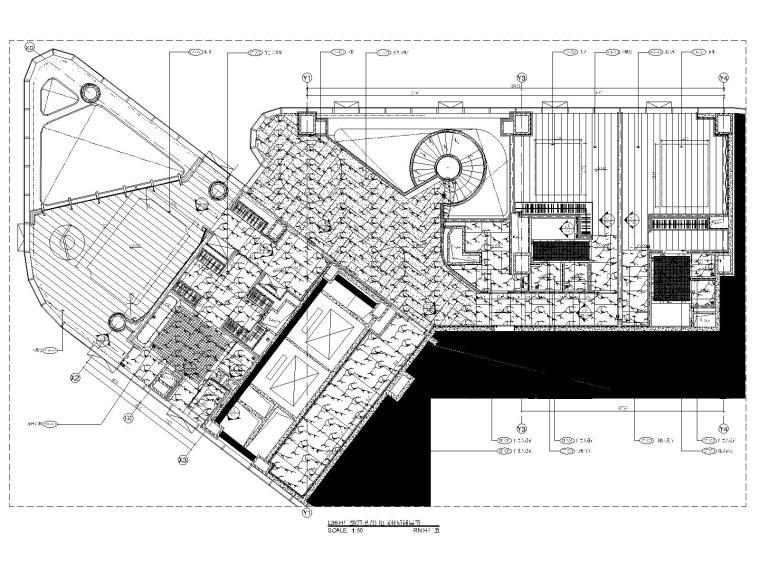 16三十六层H户型地面铺装图