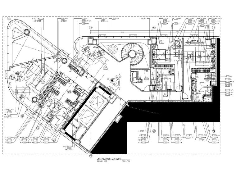 18三十六层H户型家具布置图