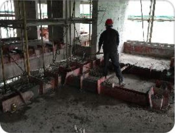 二次结构浇筑过程记录