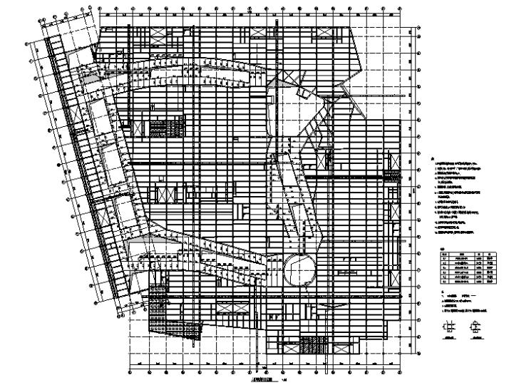 二层钢结构平面布置图