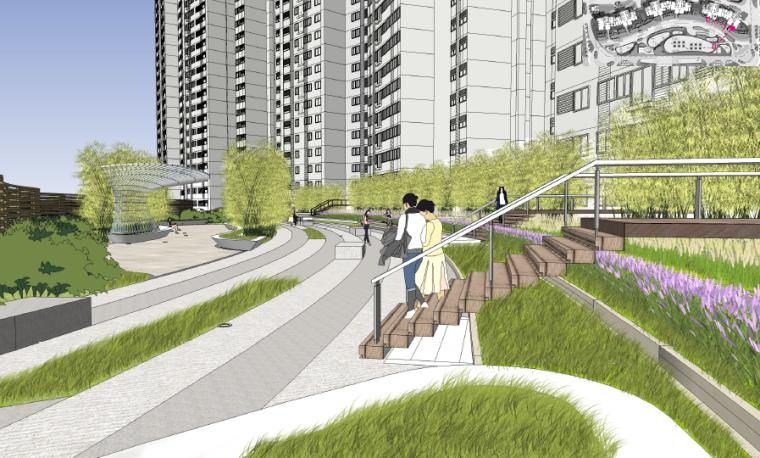 [安徽]合肥Artdeco风格商住区景观设计方案