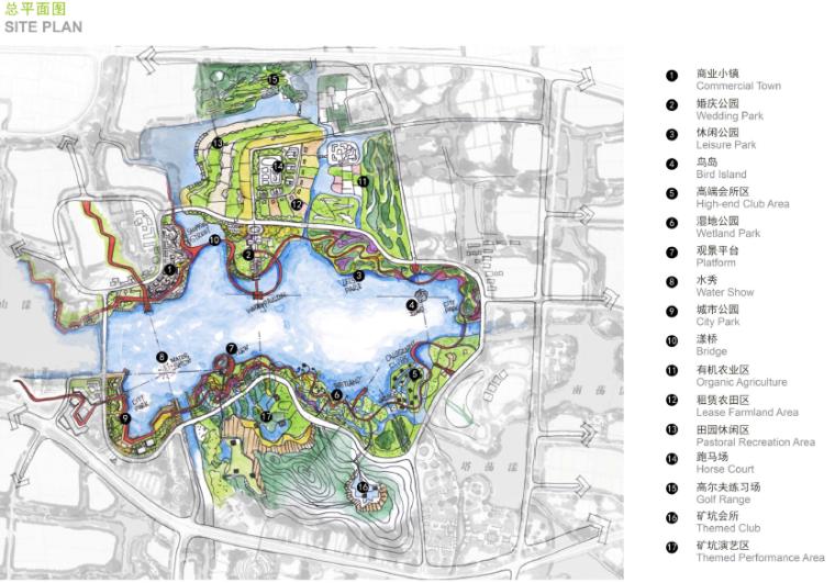[浙江]湖州自然风貌生态景区景观规划设计-总平面图