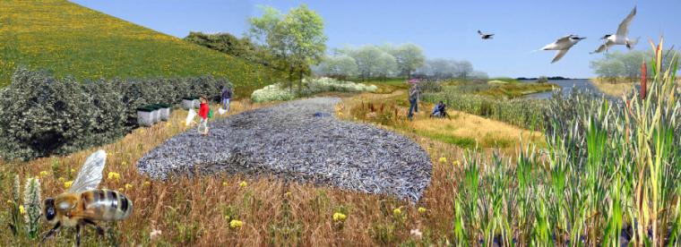 [浙江]湖州自然风貌生态景区景观规划设计-矿坑区自然景观效果图
