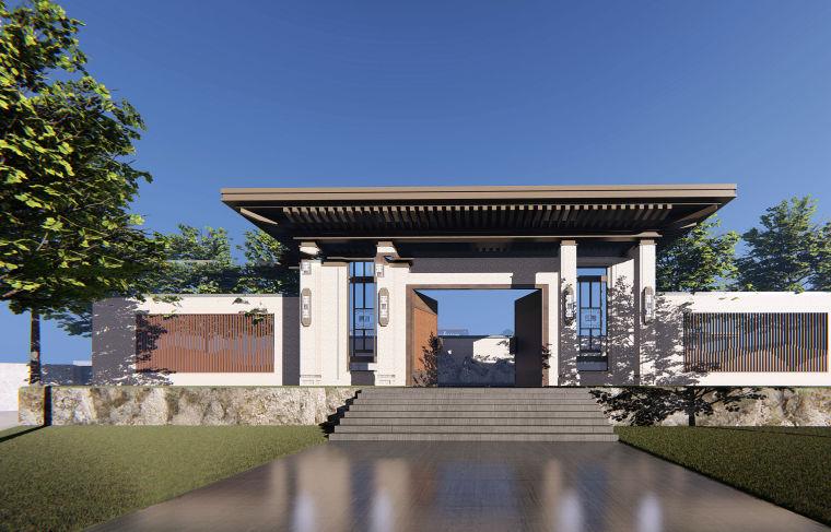 售楼处示范区+T4叠拼别墅建筑模型设计 (3)