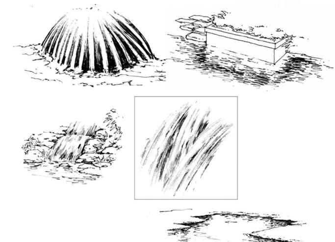 35张手绘配景练习示例(植物人物小品)-手绘配景练习示例5