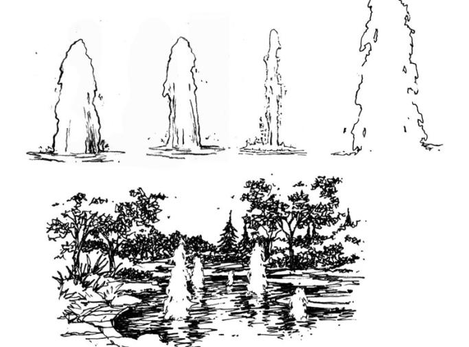35张手绘配景练习示例(植物人物小品)-手绘配景练习示例4