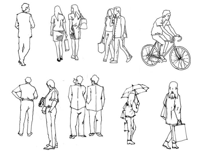 35张手绘配景练习示例(植物人物小品)-手绘配景练习示例6