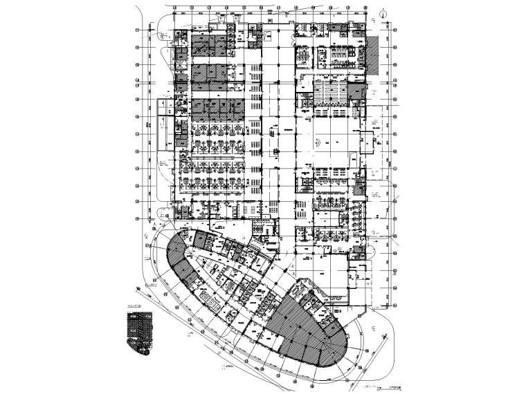 天津医院室内装修全套CAD施工图+机电
