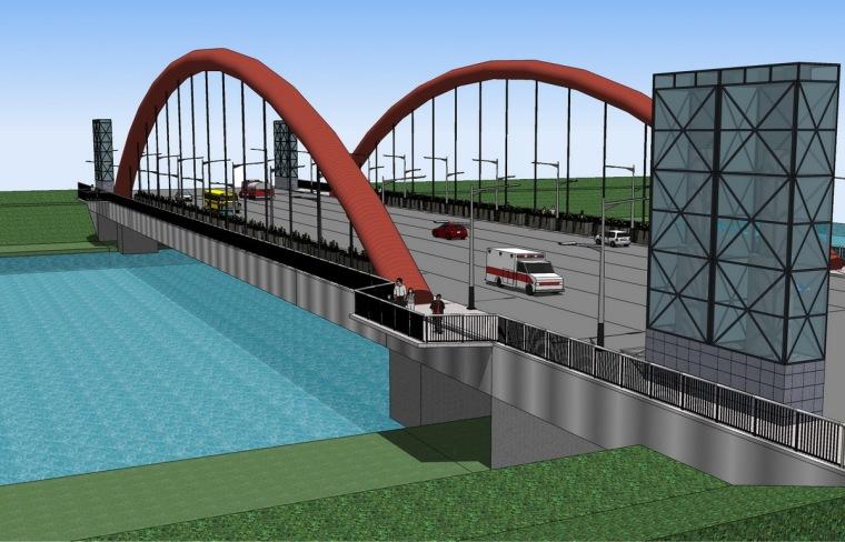景观桥效果图