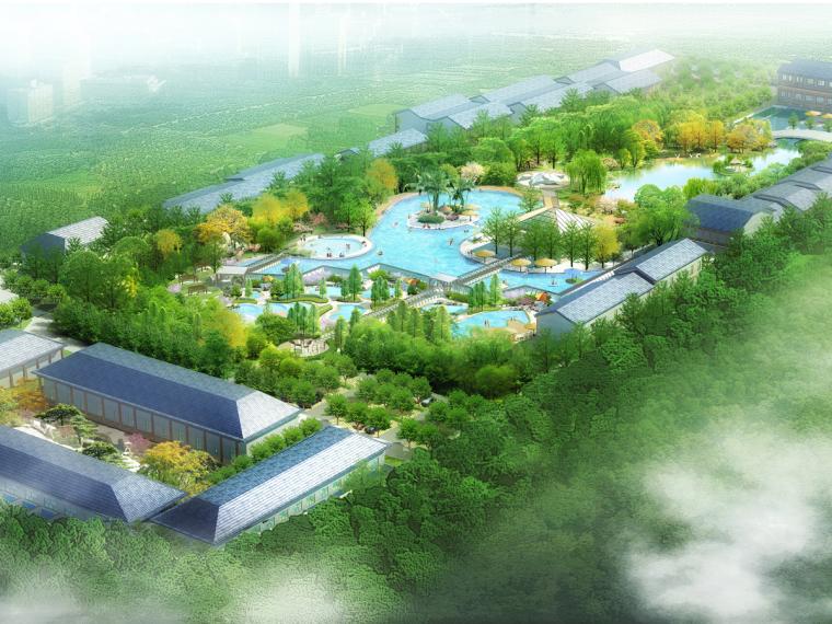 [北京]古典园林风格温泉度假生态园景观方案