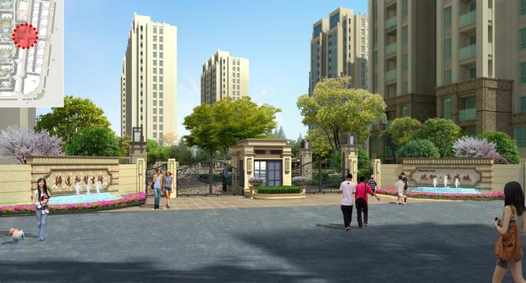 [辽宁]沈阳新古典风格优雅居住区景观方案