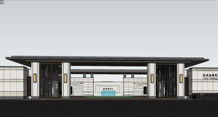苏州招商·雍雅苑示范区建筑模型设计 (1)
