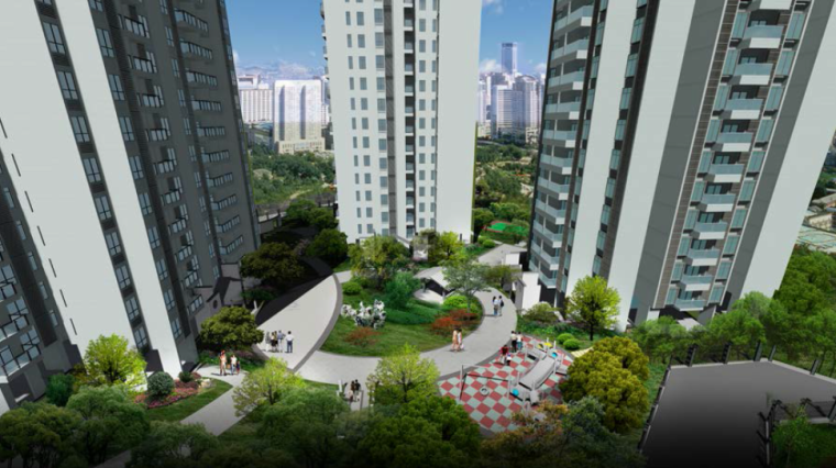 [广东]广州大学城公租房园林绿化设计方案