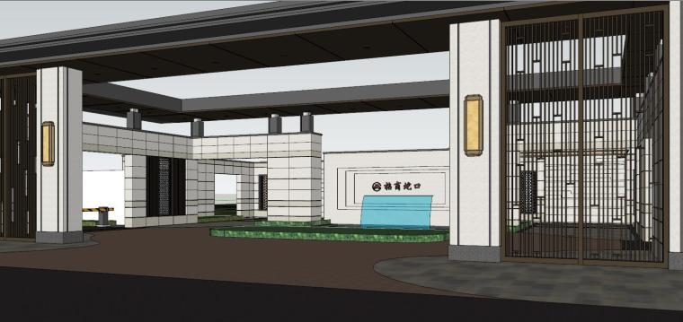 苏州招商·雍雅苑示范区建筑模型设计 (3)