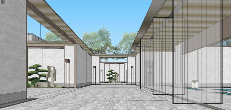 苏州仁恒别墅示范区建筑模型设计 (5)