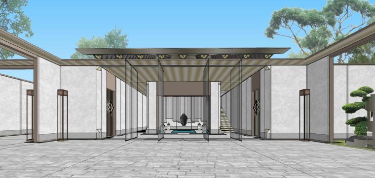 苏州仁恒别墅示范区建筑模型设计 (3)