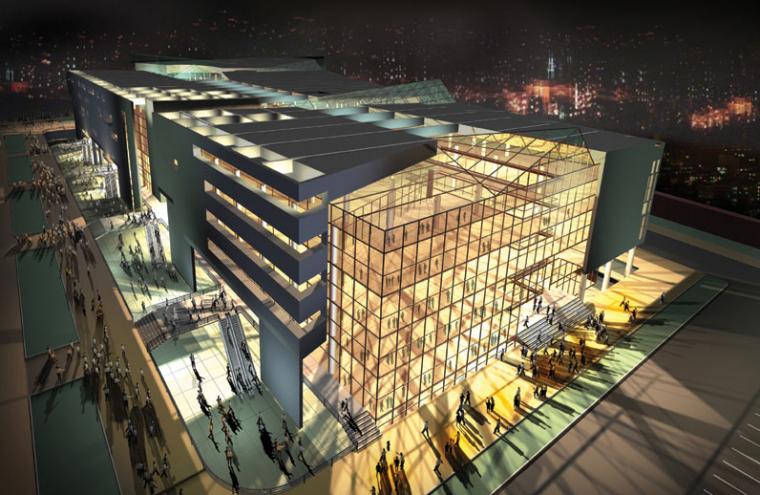 商业建筑效果图1