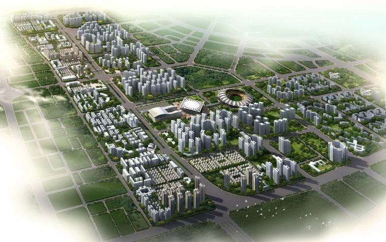 城市道路街景鸟瞰图7