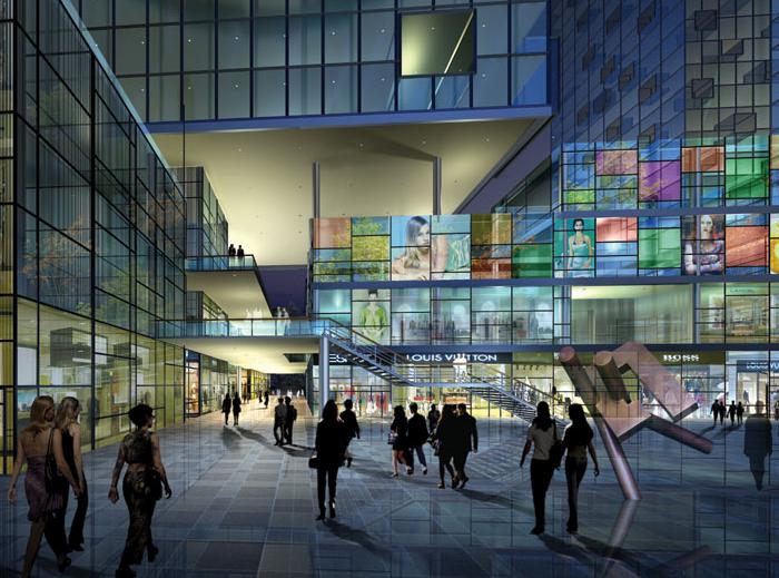 商业建筑效果图6