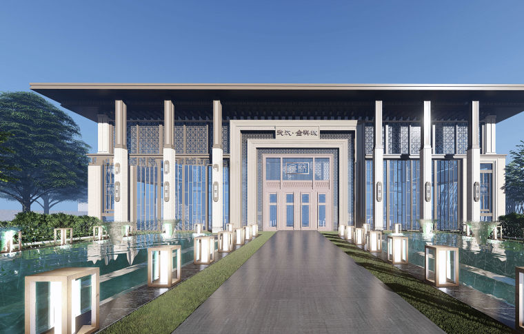 售楼处示范区+T4叠拼别墅建筑模型设计 (4)
