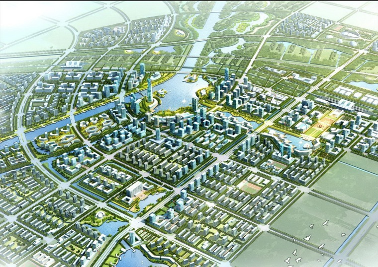 [河北]生态新城城市中心区规划设计方案