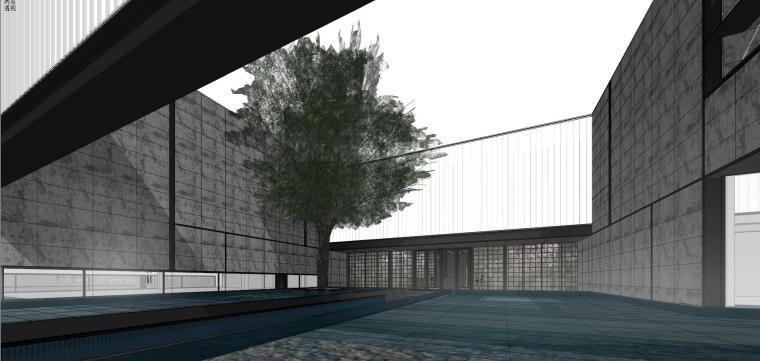 知名地产深圳湾超级总部基地城市展厅建筑模型设计 (1)